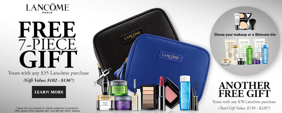Lancome gift with purchase at Dillards