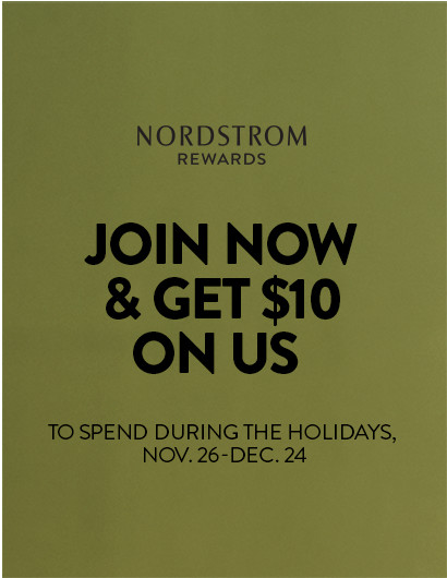 Join Nordstrom Rewards for a free $10 gift certificate