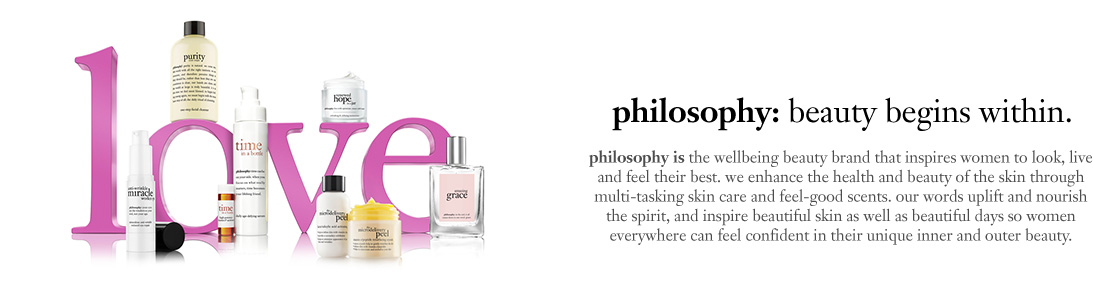 Philosophy Friends and Family Sale