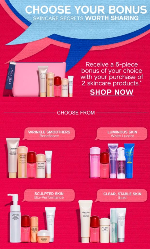 By the way, thank you Shiseido for ending the offer at 11:59 pm pacific time! I have missed some offers that end on eastern time because I don't get to sit ...