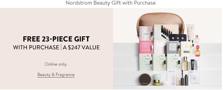 Nordstrom Free Gift With Purchase Beauty Cosmetics