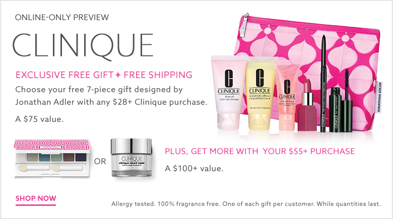 clinique bonus gift with purchase at lord and taylor