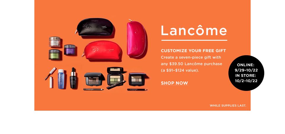 lancome gift with purchase bloomingdales