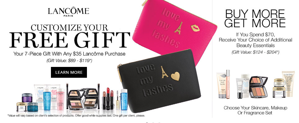 Lancome Gift With Purchase at Dillard's - Beauty Deals Blog