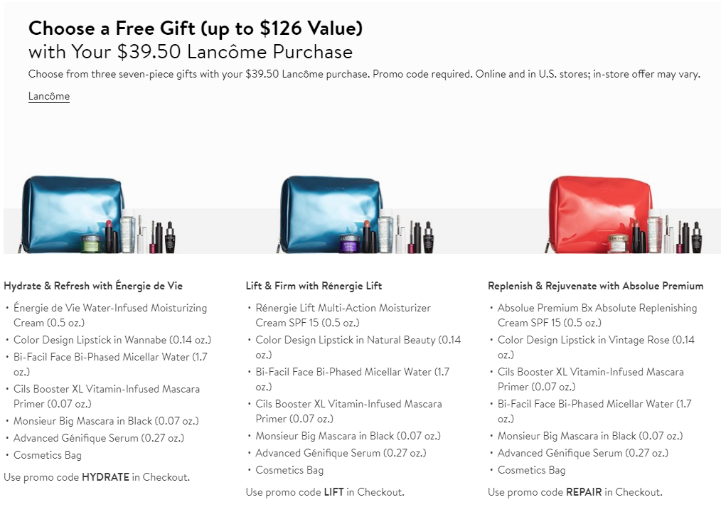 lancome gift with purchase free gwp nordstrom