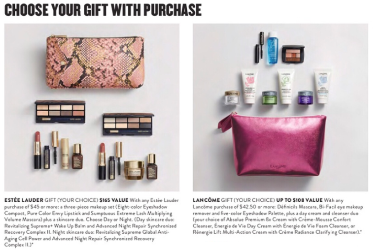 nordstrom anniversary sale 2018 estee lauder lancome gift with purchase free gwp
