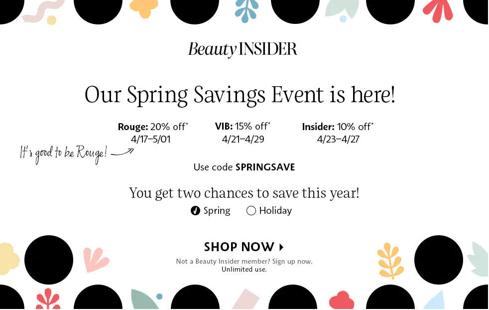 sephora spring savings promo code